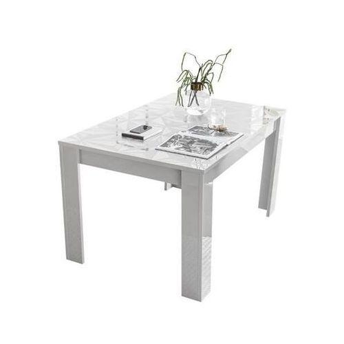 Fato luxmeble Stół rozkładany 137-185 cm prestige biały wysoki połysk