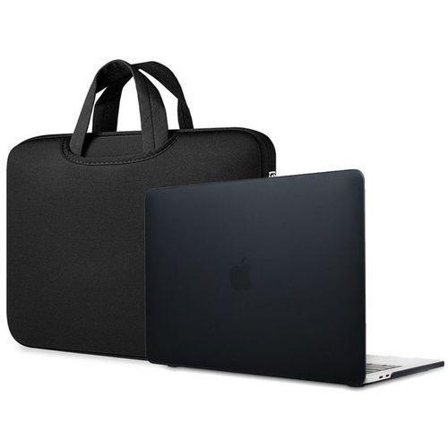 Torba pokrowiec neopren +etui hard case macbook air 13 czarny - czarny marki 4kom.pl