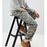 Reclaimed Vintage Revived Camo Cargo Trousers In Khaki - Green, w 2 rozmiarach