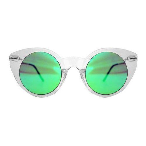 Okulary Słoneczne Spitfire Super Symmetry Tr90 Clear/Green Mirror