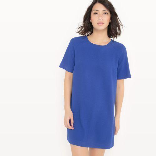 La redoute collections Prosta sukienka z wypukłym wzorem, zamek z tyłu