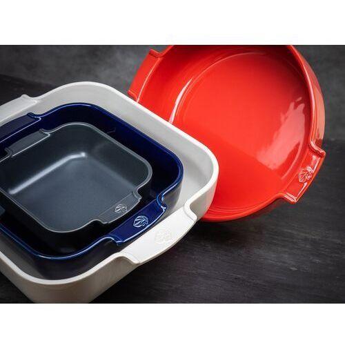 Kwadratowa forma ceramiczna, emaliowana 37x31 cm appolia ciemnoszara (pg-60145) marki Peugeot