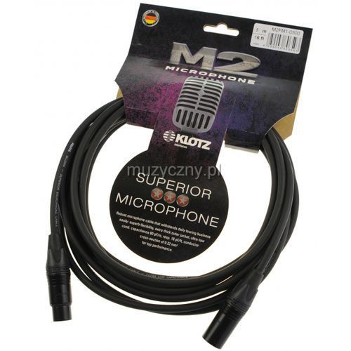 Klotz M2FM1 0500 przewód mikrofonowy XLR-F - XLR-M 5m