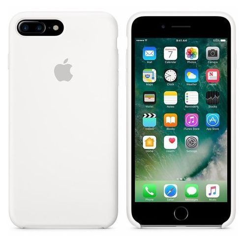 Apple Silicone Case - Silikonowe etui iPhone 7 Plus (biały)