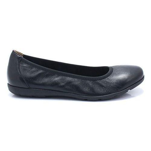 9-22150-22 black nappa- wygodne balerinki marki Caprice