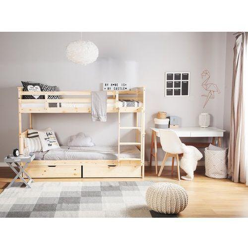 Łóżko piętrowe drewniane jasnobrązowe 90 x 200 cm RADON, kolor brązowy