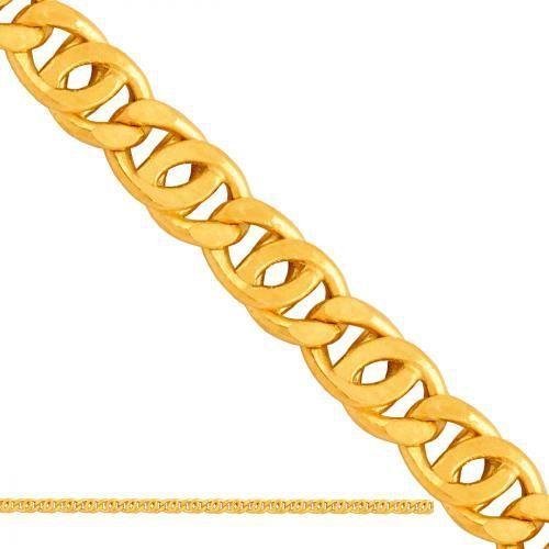 Złoty łańcuszek dmuchany tigra ld091, marki Nie
