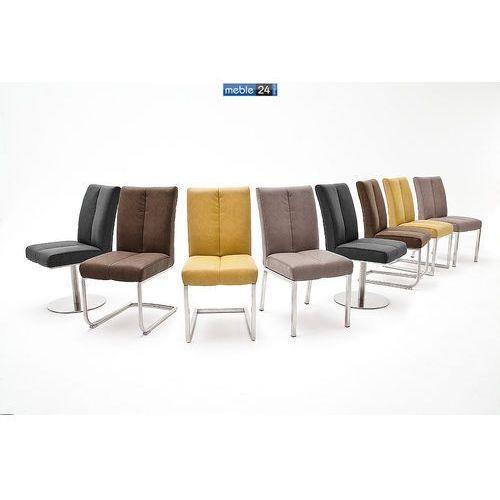 Krzesła z ekoskóry KUBANA Stal Szlachetna Różne Kolory
