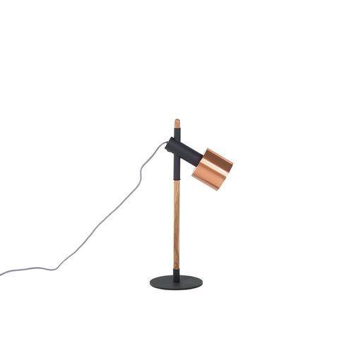 Beliani Lampa biurowa czarna - stołowa - nocna - gabinetowa - owens (7081458061549)