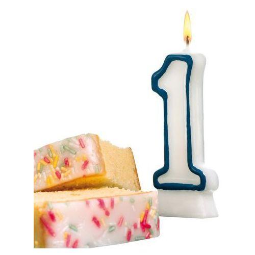 Świeczka na tort urodziny cyfra 1 7,7cm susy-card - cyfra 1 marki Pelikan