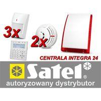 Satel Zestaw alarmowy integra 24, klawiatura sensoryczna, 3 czujniki ruchu, 2 czujniki dymu, sygnalizator zewnętrzny sp-4003