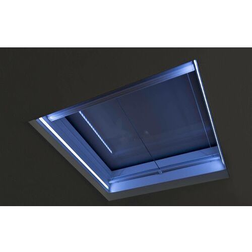 Okno do dachów płaskich OKPOL PGX A1 PVC 70x70 nieotwierane z oświetleniem LED (5901591168498)