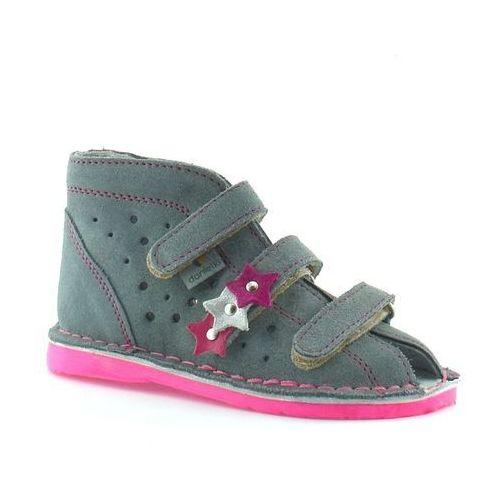 Dziecięce buty profilaktyczne ta125/135 szary fluof marki Danielki