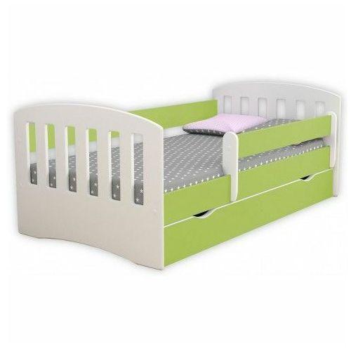 Producent: elior Łóżko dziecięce z szufladą i materacem pinokio 2x 80x140 - zielone