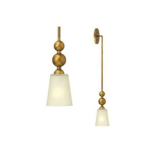 Kinkiet LAMPA ścienna HK/ZELDA/P/A VS Elstead HINKLEY szklana OPRAWA w stylu retro kule mosiądz białe, HK/ZELDA/P/A VS