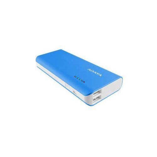 Power bank pt100 10000mah (apt100-10000m-5v-cblwh) niebieska marki Adata
