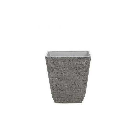Doniczka szara kwadratowa 49 x 49 x 53 cm Girasole BLmeble