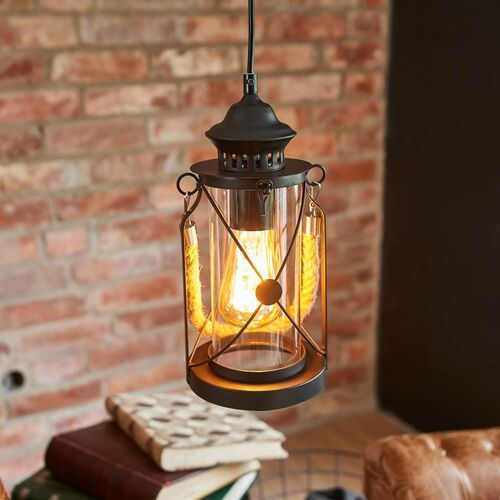 49213 - lampa wisząca vintage 1xe27/60w/230v marki Eglo