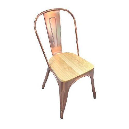 Krzesło paris wood jesion rose gold isp. proj. tolix marki Kh