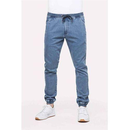 Spodnie - reflex pant light blue denim (light blue denim) rozmiar: m normal marki Reell