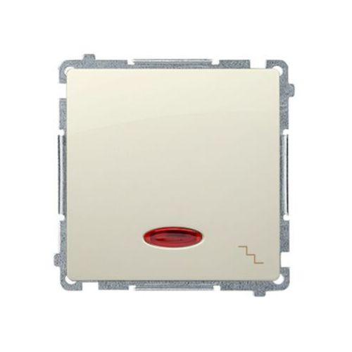 Kontakt - simon s.a. Simon basic łącznik schodowy z podświetleniem (moduł) 10ax, 250v~, szybkozłącza; beż bmw6l.01/12 wmul-061xxx-9011