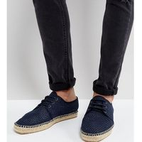 H by hudson exclusive for asos lace up mesh espadrilles - navy