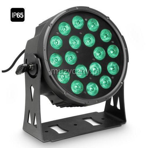 Cameo FLAT PRO 18 IP65 - 18 x 10 W FLAT LED Outdoor RGBWA PAR - reflektor LED w czarnej obudowie IP65