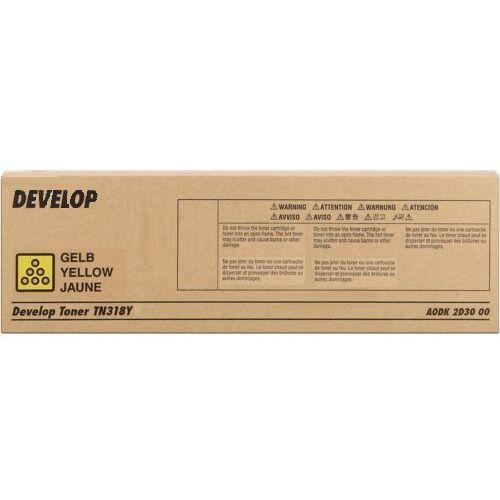 Develop toner Yellow typ TN318Y, TN-318Y, A0DK2D3, A0DK2D3