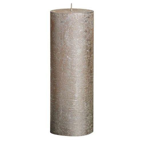 Bolsius aromatic Świeca pieńkowa rustic metallic szampańska wys. 19 cm bolsius (8717847042545)