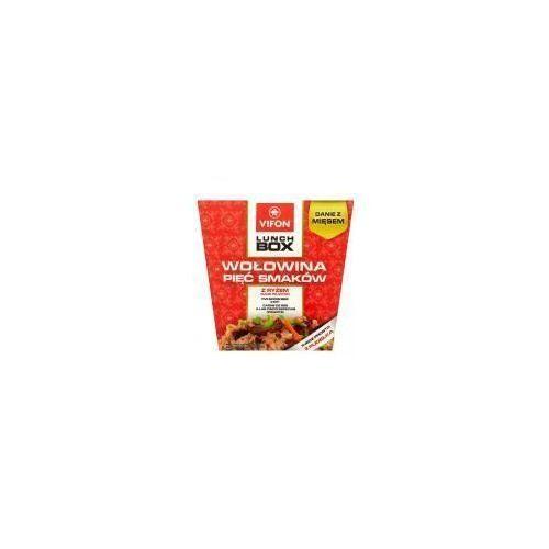 Lunch Box Danie błyskawiczne wołowina 5 smaków z ryżem 175 g Vifon (5901882019904)