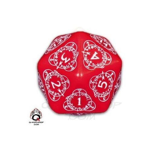 Q-workshop K20 czerwono-biała licznik poziomów do gier karcianych