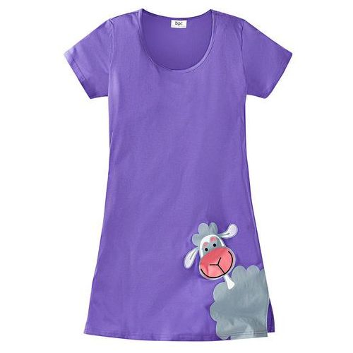 Koszula nocna bonprix jasny lila, bawełna