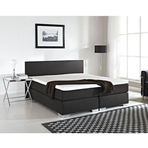 OKAZJA - Beliani Łóżko kontynentalne 180x200 cm - łóżko tapicerowane - president czarne