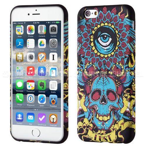 fluorescencyjny pokrowiec świecący w ciemności wild case iphone 6s 6 czaszka niebieski - niebieska czaszka, marki Wozinsky