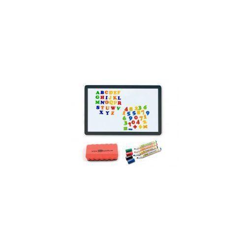 Allboards Zestaw - tablica magnetyczna smartphone 90x60 rama czarna + markery + gąbka + magnesy