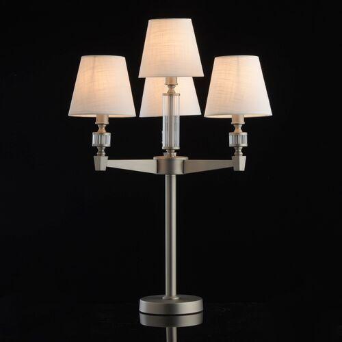 Mw-light Lampa stołowa satynowy nikiel i białe, cztery klosze neoclassic (700033004) (4250369174119)
