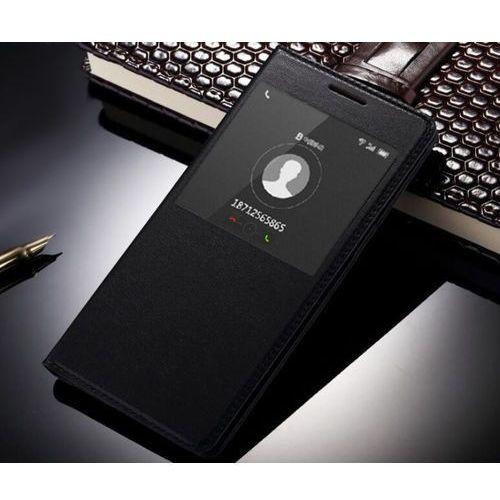 Flip Leather Czarny | Etui z klapką dla Huawei P9 Lite - Czarny