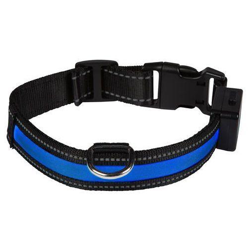 Obroża LED Eyenimal, niebieska - Obwód szyi: 44-56 cm