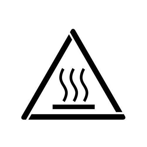 Szabloneria Szablon do malowania znak ostrzeżenie przed gorącą powierzchnią gw017 - 17x20 cm