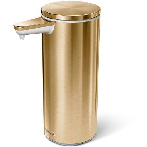 Simplehuman Dozownik akumulatorowy do mydła, bezdotykowy, złoty (st1055)