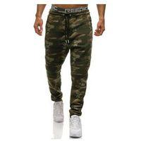 Spodnie męskie dresowe joggery moro multikolor Denley 3771A, dresowe