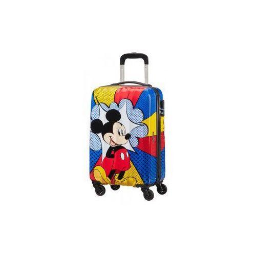 American tourister mickey mouse walizka mała/ kabinowa z kolekcji disney legends materiał abs twarda 4 koła zamek szyfrowy