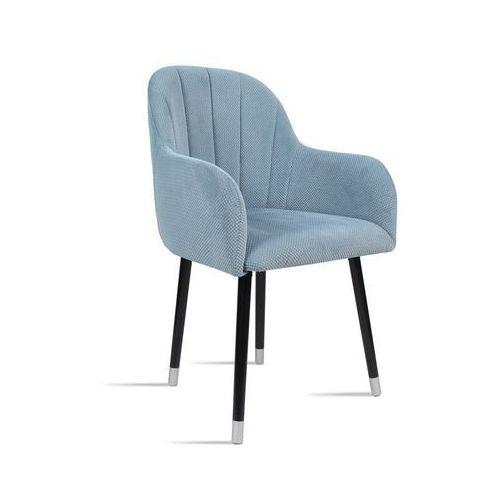 Krzesło BESSO niebieski/ noga czarny silver/ LU2782, kolor niebieski