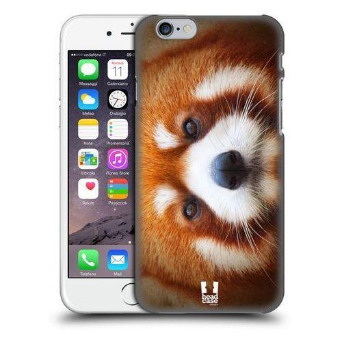 Etui plastikowe na telefon - Twarze Zwierząt Panda Czerwona