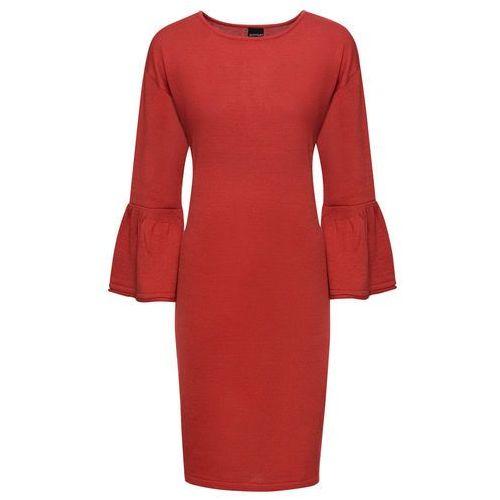 Sukienka bonprix jasnoszaro-niebieski, kolor czerwony