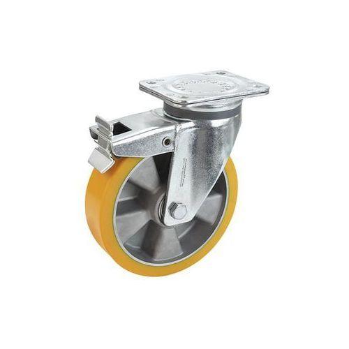 Proroll Opona z pu na feldze aluminiowej, Ø x szer. kółka 200x50 mm, rolka skrętna z pod