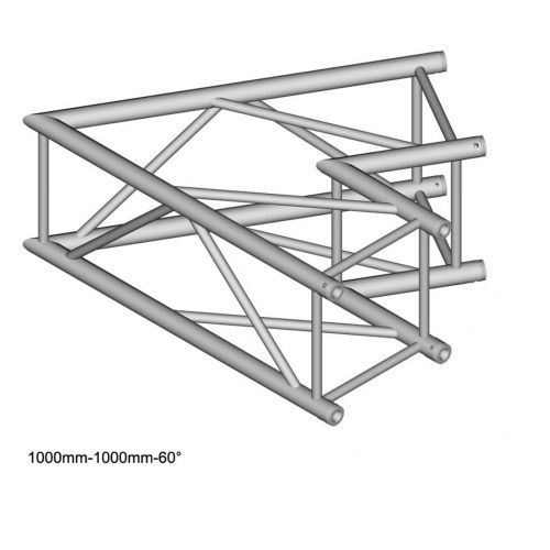 Duratruss dt 44/2-c20-l60 element konstrukcji aluminiowej, narożnik 60st 100cm