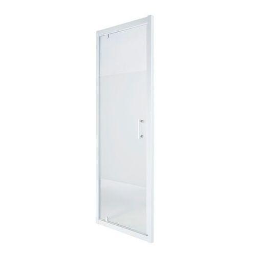 Drzwi prysznicowe wahadłowe Cooke&Lewis Onega 80 cm biały/wzór