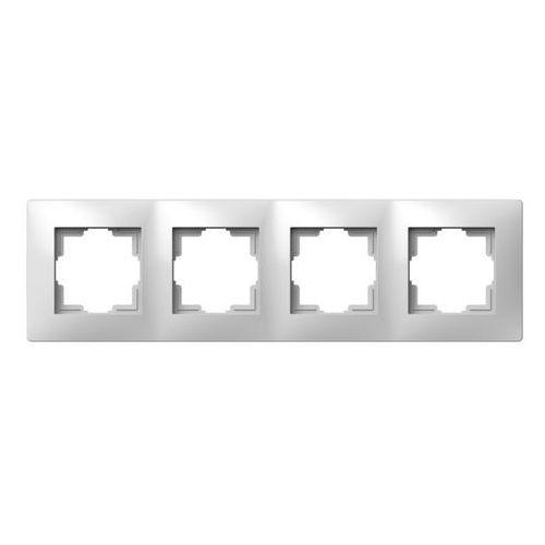 Ramka poczwórna Elektro-Plast Volante biała, 2674-00