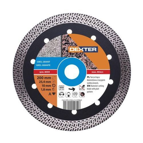 Dexter Tarcza diamentowa 200 x 25.4 mm do gresu (5901171211811)
